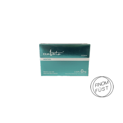 Kép 2/2 - Ccobato - Fekete menta ízű Nikotinmentes hevítőrúd (Mentollal) - Doboz