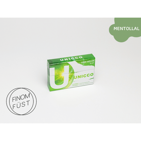 Unicco - Sárgadinnye ízű Nikotinos hevítőrúd Mentollal - Doboz